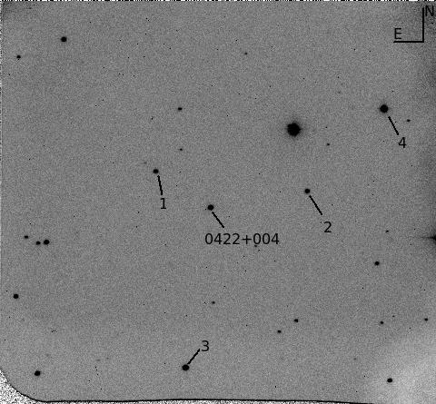 0422+0044 Optical Finding Chart