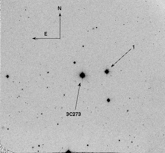 3C 273 Optical Finding Chart