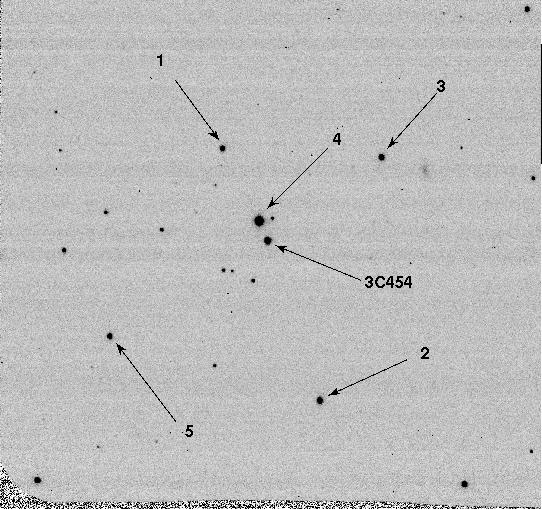 3C454.3 Optical Finding Chart