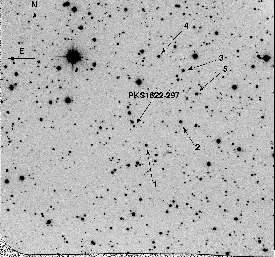 PKS 1622-297 Optical Finding Chart